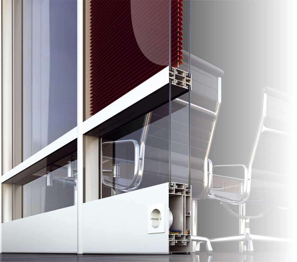P100 - Sistem destinat realizarii de compartimentari interioare